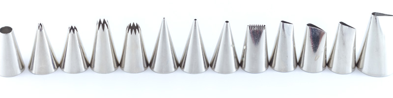 Cake & Pastry Decorating Tips - Stainless Steel Pastry Tubes ...