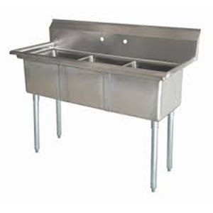 Equipment & Parts Sinks (Commercial) Three Compartment Sink - BakeDeco ...