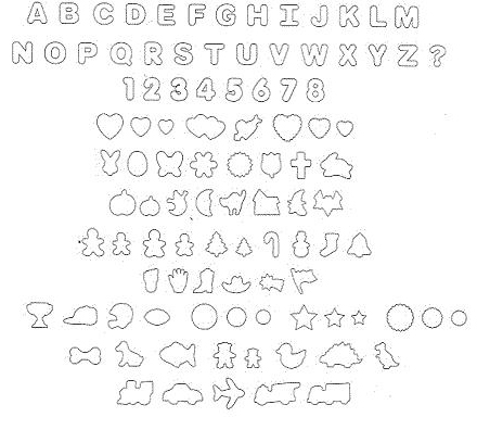 Mini Trophy Truck >> Wilton 101 Alphabet / Letters & Numbers Cookie Cutter Set (w/ many other shapes) Shaped Cookie ...