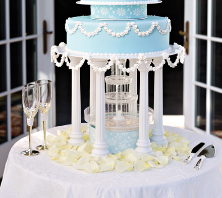 I used the Wilton Fanci Fountain for my daughters wedding cake and it made