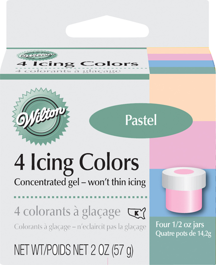 wilton food color icing pastel colors four 1 2 oz jars ebay   Can Icing Color Be Used As Food Coloring