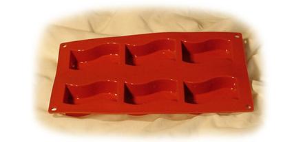 Pavoni Flexible Silicone Non Stick Bakeware Wavy Rectangle