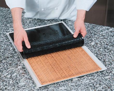 demarle 3 d silicone non stick baking mat relief mat 15 x 22 venetian cane design decorating. Black Bedroom Furniture Sets. Home Design Ideas