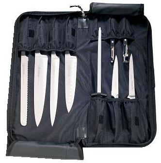 mundial hard knife case holds 10 knives ebay. Black Bedroom Furniture Sets. Home Design Ideas