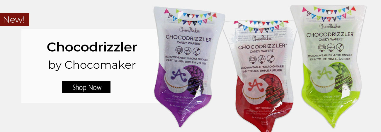Chocomaker Chocodrizzler Bright Purple Candy Wafers 2 oz.