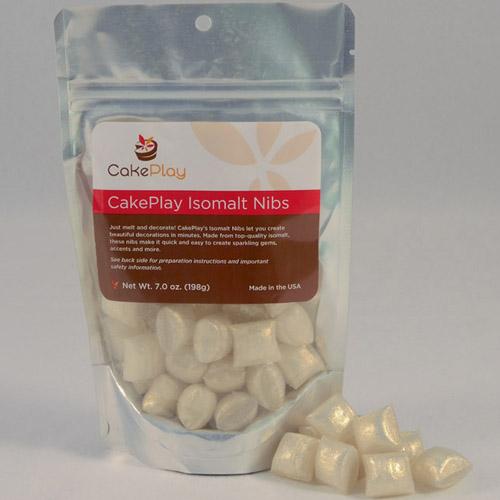 CakePlay Isomalt Nibs, One 7-Oz Pack - Shimmering Pearl