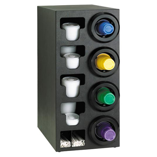 Dispense-Rite Countertop 4-Cup Dispensing with Built-In Lid and Straw Organizer - Right STL-C-4RBT