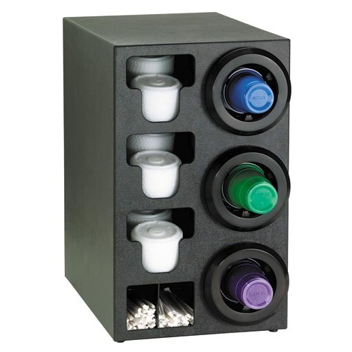Dispense-Rite Countertop 3-Cup Dispensing with Built-In Lid and Straw Organizer - Right STL-C-3RBT