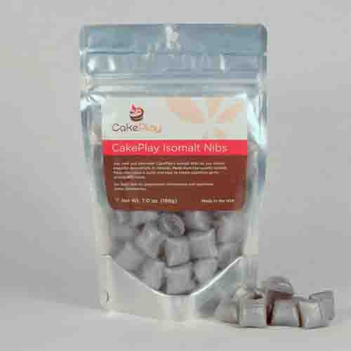 CakePlay Isomalt Nibs, One 7-Oz Pack - Silver