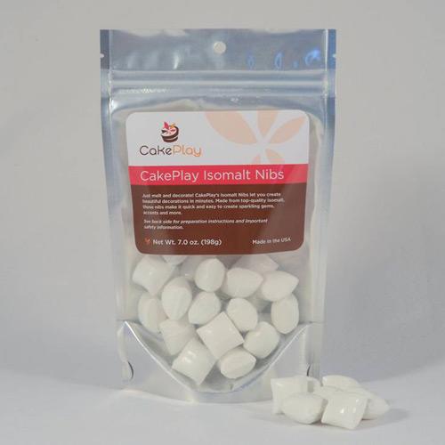 CakePlay Isomalt Nibs, One 7-Oz Pack - White