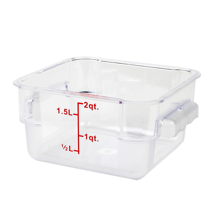 Polycarbonate Clear Square Food Storage Container Ebay