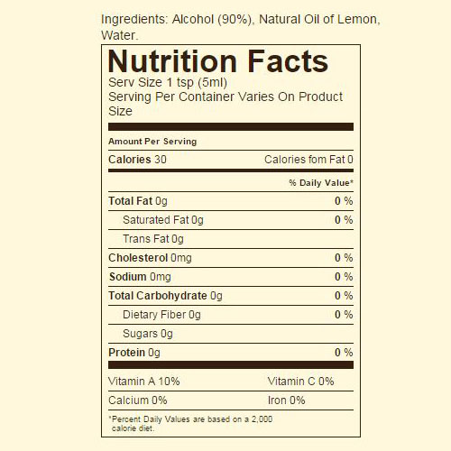 Ingredients & nutrition facts