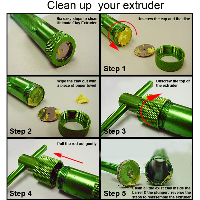 Cleaning Ultimate Clay Extruder