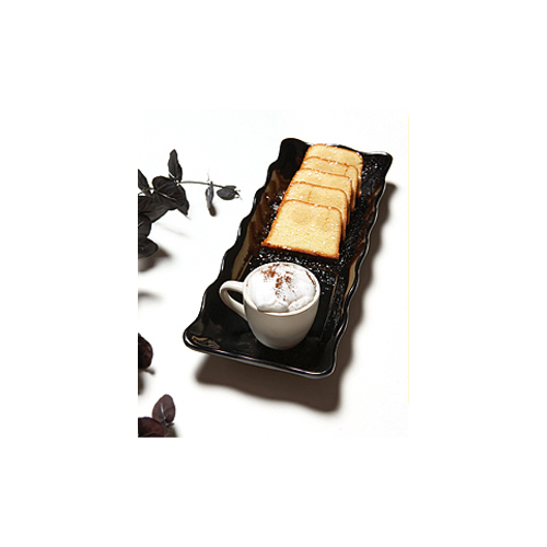 Melamine Display Tray, Scallop Edged, Bake & Brew Series, 13.5