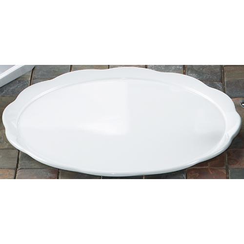 Melamine Plate, Scallop-Edged Round, Bake & Brew Series, 11.63