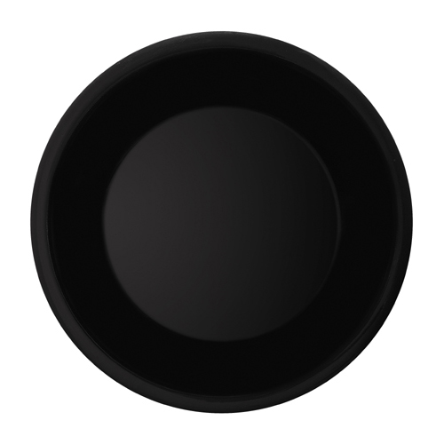 Melamine Plate, Wide Rim, Black Elegance Series, 1 CASE