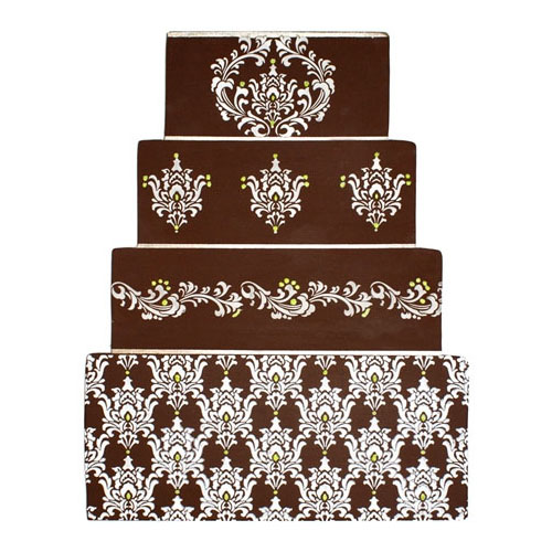 Designer Decorating Stencil, Filigree Damask Set