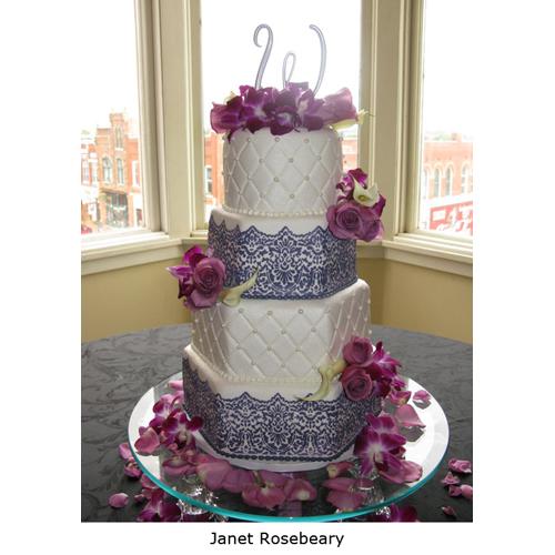 Designer Decorating Cake Stencil, Victorian Lace Cake Border