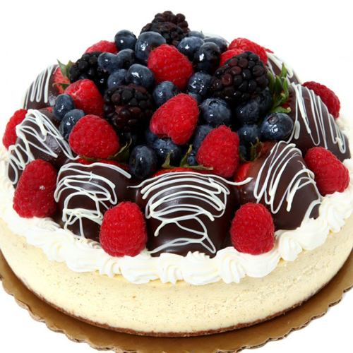 Round Cake with Fruit Topping