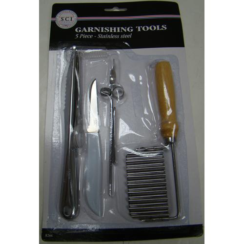 Garnishing-Tool Set, 5 Piece, Stainless Steel