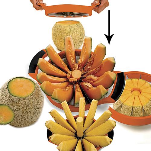 Norpro Grip-EZ Melon Cutter, Tangerine