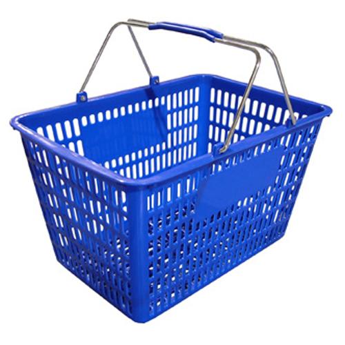 Plastic Shopping Basket - Blue