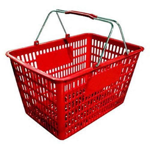 Plastic Shopping Basket - Red