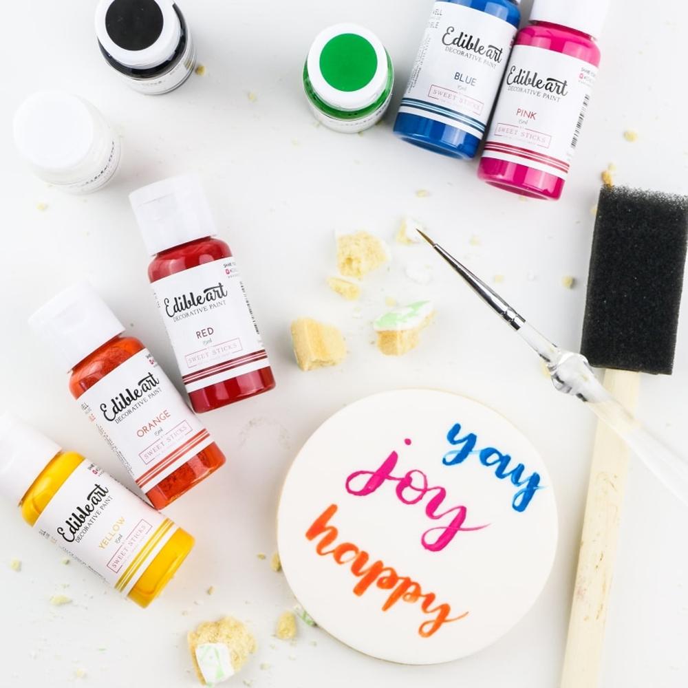 8 Colors Edible Art Primary Paint Set