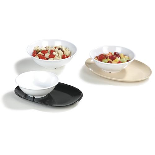 Carlisle Melamine Dinnerware Footed Serving Bowl