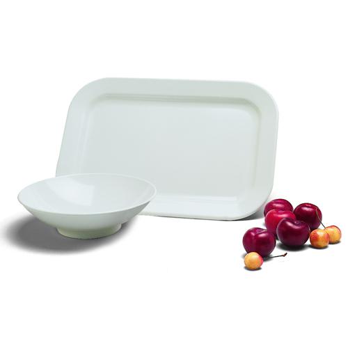 Carlisle Rimmed Melamine Dinnerware Oblong Platter