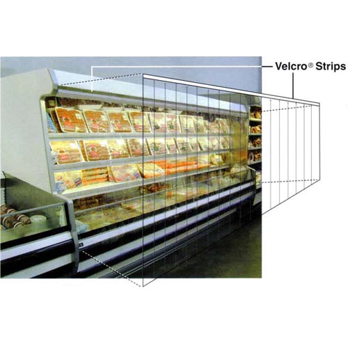 Strip Curtain for Upright Refrigerated Display Case
