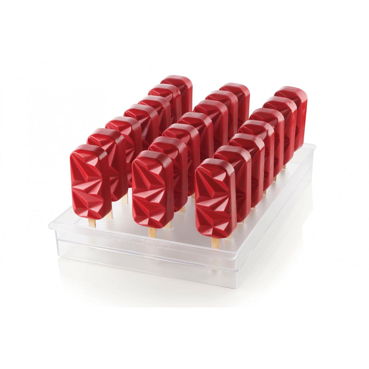 Shock 12 Cavities Silikomart Silicone Mold for Ice Cream Pops