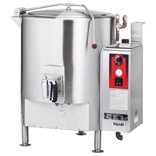 Vulcan GL80E Fully Jacketed Stationary Gas Kettle 80 Gal.