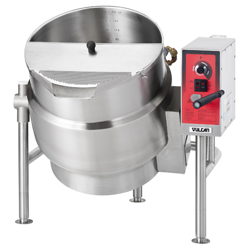 Vulcan Electric Kettle, Tilting Floor Mounted Model with Lid