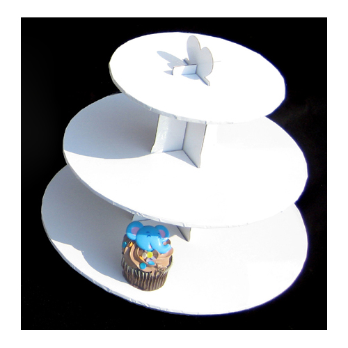 White 3-Tier Cupcake Stand