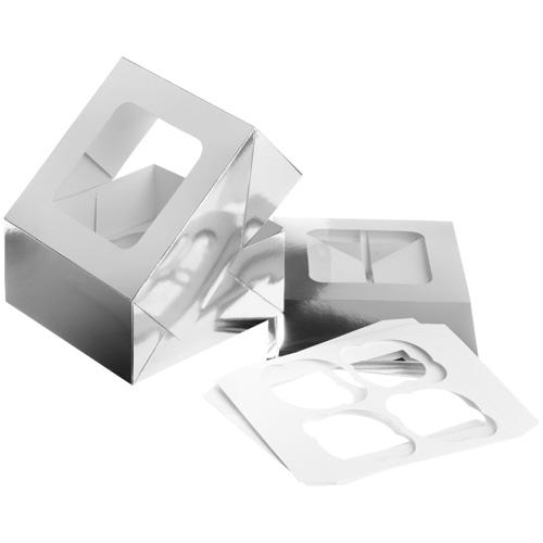 Wilton Silver Treat Boxes--Includes Insert