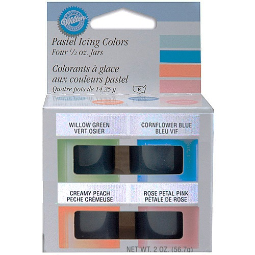 Wilton Food Color Icing Pastel Icing Colors. Four 1/2 oz. Jars ...