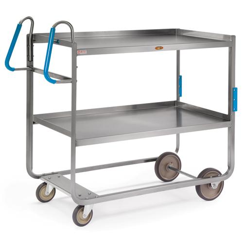 Lakeside Ergo-One Stainless Steel 2-Shelf Utility Cart - 1000 Lb