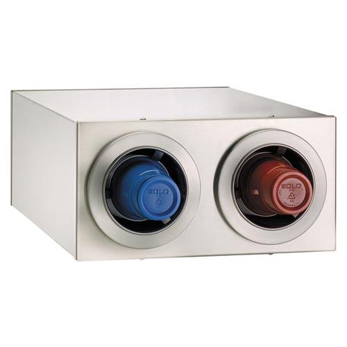 Dispense-Rite CTC-R-2SS Countertop 2-Cup S/S Dispensing Cabinet