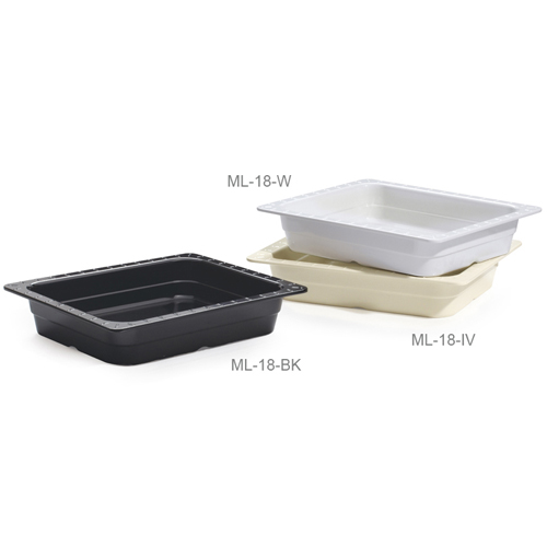 Melamine Food Pan 1/2 Size Insert Pan, 12 1/2