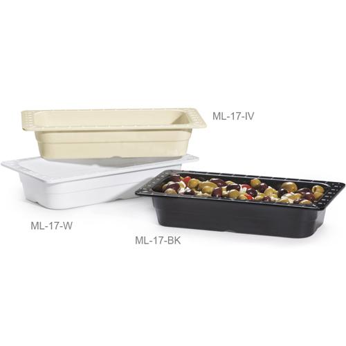 Melamine Food Pan 1/3 Size Insert Pan, 12 3/4