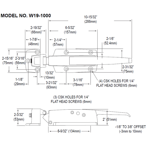 FMP Latch with 3/8