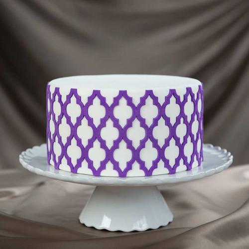 Moroccan-Lattice Cake