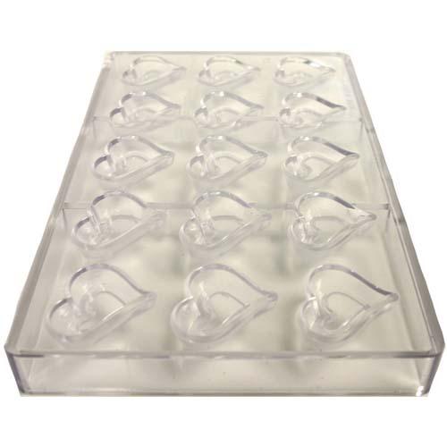 Polycarbonate Mold, Heart-Shape Cavities