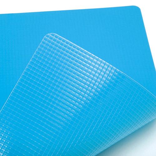 Grid on underside grasps flat surfaces