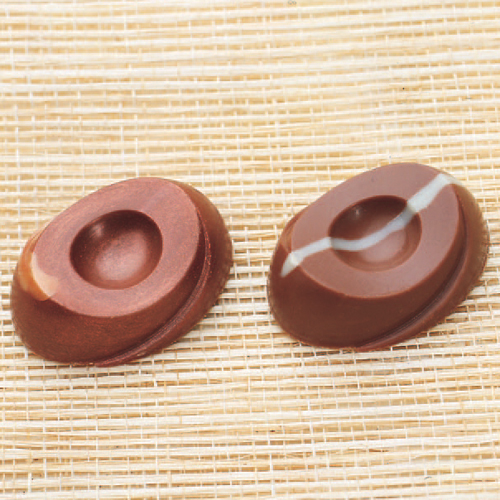 Polycarbonate Chocolate Mold, Dimpled Oval