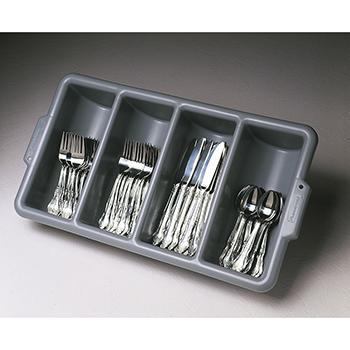Rubbermaid Fg336200gray Cutlery Bin 4 Compartment Gray