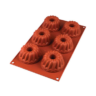 Silikomart Flexible Silicone Baking Mold Mini Kugelhopf