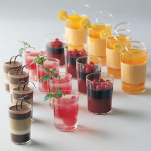 Martellato Round Dessert Cups Clear Plastic 2 Diameter X