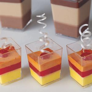 Square Dessert Cups Clear Plastic 1 5 X 2 1 8 H Capacity
